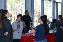 Students and faculty at Lone Star College-Kingwood enjoy Club Rush inside then Student Conference Center of the LSC-Kingwood campus. Photos by Aliya Ahmed, January 2019.