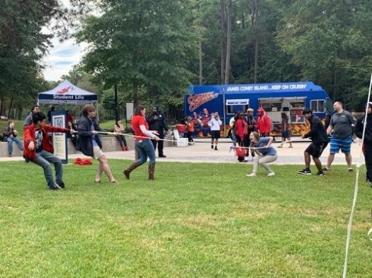 Lone Star College-Kingwood during Oktoberfest tug of war on the big quad between the Student Conference Center and the Administration and Performing Arts center. (Photo by Bri Maguire 17.10.19)